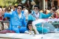 The Parkes Elvis Festival is an annual event celebrating the music and life of Elvis Presley in the New South Wales town of Parkes. Australia's deputy prime minister Michael McCormack (left) and Parkes mayor Ken Keith (right) take part in the street parade. Photo: AFP