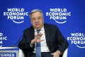 United Nations (UN) Secretary-General Antonio Guterres delivers a speech during the World Economic Forum (WEF) annual meeting, on January 23, 2019 in Davos, eastern Switzerland. Photo: AFP