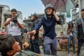 Director Stephen Chow (centre) on the set of The New King of Comedy.