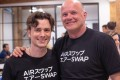 Michael Novogratz (right) – founder of the cryptocurrency bank Digital Galaxy, which is raising at least US$250 million for a credit fund to offer loans to cryptocurrency firms – with Michael Oved, co-founder of AirSwap, a peer-to-peer trading network. Photo: Twitter