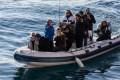 Italian politicians on a dinghy near Sea Watch 3 on January 27, 2019 off Syracuse, Sicily. Photo: AFP