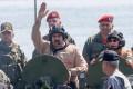 President Nicolas Maduro rides in an amphibious vehicle in Puerto Cabello, Venezuela. Photo: Reuters