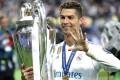 Cristiano Ronaldo celebrates winning the 2018 Champions League with Real Madrid. Photo: AP