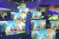 Advanced 4K television sets are displayed at the booth of Chinese company TCL during the annual CES trade show in Las Vegas in 2017. Photo: Handout