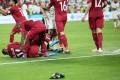 UAE fans throw bottles and flip-flops during the AFC Asian Cup semi-final match against Qatar in Abu Dhabi. Photo: EPA