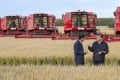 Chinese President Xi Jinping, right, visits a farm in Jiansanjiang in northeastern China's Heilongjiang province on September 25, 2018. Xi was on an inspection tour of the region as China has slapped tariffs on US agricultural imports and looked to increase farming self-sufficiency amid a growing trade war with the United States. Photo: Xinhua