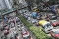 Traffic crawls on Gloucester Road in Wan Chai on January 11. Photo: K.Y. Cheng