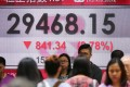 Hong Kong's benchmark stock market went down 14 per cent last year, denting bankers' bonus prospects. Photo: Dickson Lee