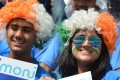Cricket fans at a match between India and Pakistan. Photo: AFP