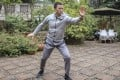 Kelvin Chen Chi, founder and chief executive of Xiaozhu, practice tai chi at the courtyard of a European-style villa in suburban Chengdu. Photo: Handout