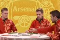 Arsenal players playing mahjob in a Lunar New Year video. Photo: The Sun