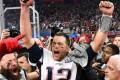 New England Patriots quarterback Tom Brady celebrates his sixth Super Bowl victory. Photo: USA TODAY Sports