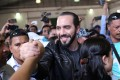 Presidential candidate Nayib Bukele of the Great National Alliance (GANA) greets supporters before casting his vote in a presidential election in San Salvador, El Salvador, February 3, 2019. Photo: Reuters