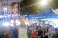 A still from the video showing the Russian man swinging his baby around in Kuala Lumpur. Photo: Facebook