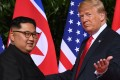 The meeting later this month will be Donald Trump's second summit with Kim Jong-un over the last year and the first time a US president has twice met the leader of the authoritarian regime. Photo: AFP