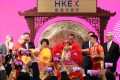 Hong Kong Exchanges and Clearing officials welcome in the Year of the Pig at a ceremony on Friday. Photo: Felix Wong