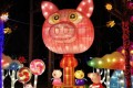 A pig display features at a new year's lantern festival in Lanzhou, Gansu province. Photo: Weibo