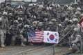 About 28,500 US troops are stationed in South Korea, where the United States has maintained a military presence since the 1950-53 Korean war. File photo: AP