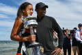 World No 1 ranked female tennis player, Japan's Naomi Osaka, with her Haitian father Leonard Francois, after her victory in the women's singles final at the Australian Open. Picture: AFP