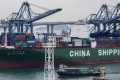 Data from China's General Administration of Customs released on Thursday showed that January's exports rose 9.1 per cent from a year earlier, beating a median forecast of economists by Bloomberg, which had predicted a 3.3 per cent decline. Photo: AFP