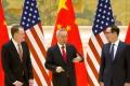US trade representative Robert Lighthizer (left), Chinese Vice-Premier Liu He and US Treasury Secretary Steven Mnuchin met in Beijing this week. Photo: Reuters