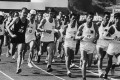 Runners taking part in the Tin Tin International Marathon at Yuen Long Stadium in the New territories in 1969. Photo: SCMP