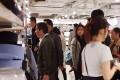 Rodrigo Duterte walks around the Uniqlo shop in Causeway Bay's World Trade Centre – much to the surprise of some. Photo: Henry Chai