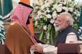 Prince Mohammed bin Salman and Indian prime minister Narendra Modi. Photo: EPA