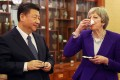 A UK-China alliance as a solution to Brexit and new US-led cold war? That may be something Theresa May and Xi Jinping can drink to. Photo: Bloomberg