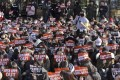 A rally supporting the MeToo movement in Seoul, South Korea. Photo: AP