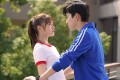 Darren Wang and Jelly Lin in a still from Fall in Love at First Kiss (category 1, Mandarin), directed by Frankie Chen.