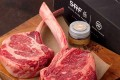 American Wagyu is described by chef Wolfgang Puck as having 'the richness of Japanese beef with lots of marbling'. Photos: Snake River Farms