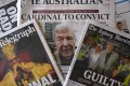 Front pages of Australia's major newspapers report on Cardinal George Pell's conviction on child sex charges on February 27. Photo: AFP