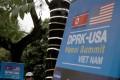 Banners for the US-North Korea summit, in Hanoi, Vietnam. Photo: EPA-EFE