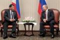 Mirror image: Rodrigo Duterte and Vladimir Putin. Photo: AFP