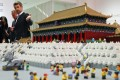 In this file photo from September 23, 2017, Danish Crown Prince Frederik shows guests the Forbidden City made of Lego bricks at the Royal Modern Household Exhibition at the Danish Cultural Center, in Beijing. Photo: AP