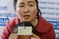 """Gulzira Auelkhan spent nearly two years in """"re-education"""" and work in China and is back in Kazakhstan with her five-year-old daughter. Photo: AFP"""