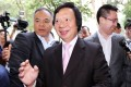 Former Sun Hung Kai Properties co-chairman Thomas Kwok arriving at the Court of Final Appeal in Central in May 2017. Photo: Felix Wong