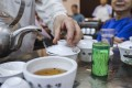 A Chinese restaurant serves traditional tea in Hong Kong. Blockchain Group is a maker of and seller of teas, not a company specialising in the technology that underpins cryptocurrencies. Photo: Winson Wong