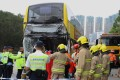 The bus driver, 59, was declared dead at the scene. Photo: Edmond So