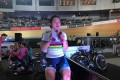 Sarah Lee is under the spotlight but has another day of competition to go at Tseung Kwan O velodrome. Photos: Chan Kin-wa