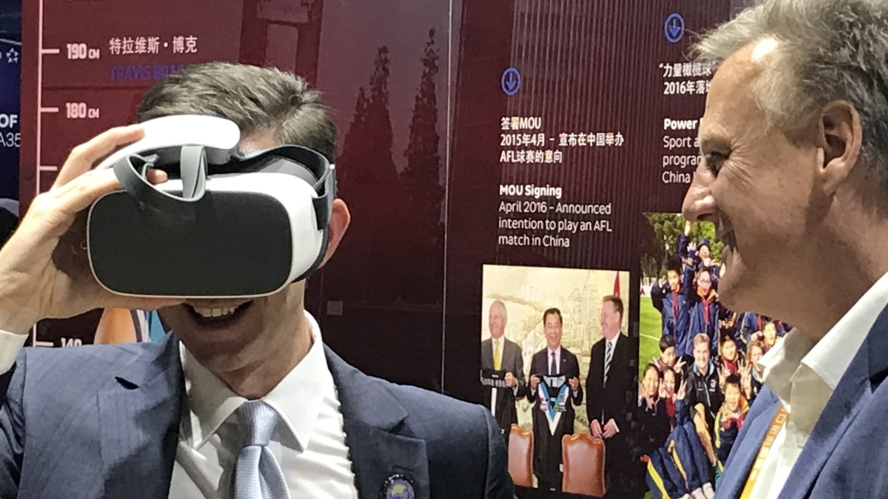 Aussie rules sets Shanghai expo abuzz with virtual reality fan experience