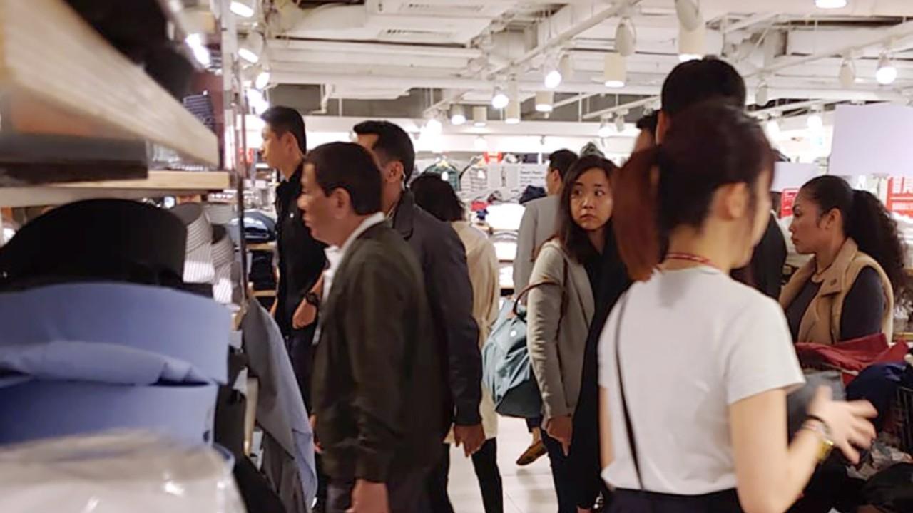 Philippine President Rodrigo Duterte spotted shopping in Hong Kong for second time in less than five months as partner Honeylet Avancena celebrates birthday