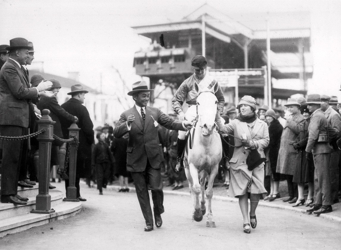 An undated picture of a winner at the Shanghai Race club.