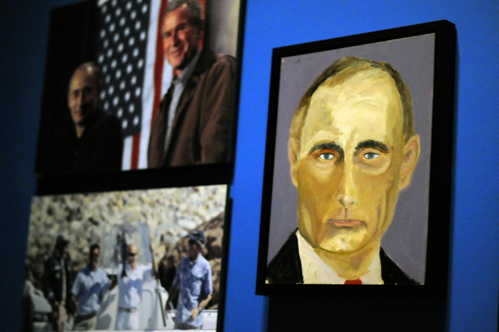 0eda2bd674ee Portrait of Putin as a tense man: George W. Bush unveils his artistic  streak with paintings of world leaders | South China Morning Post