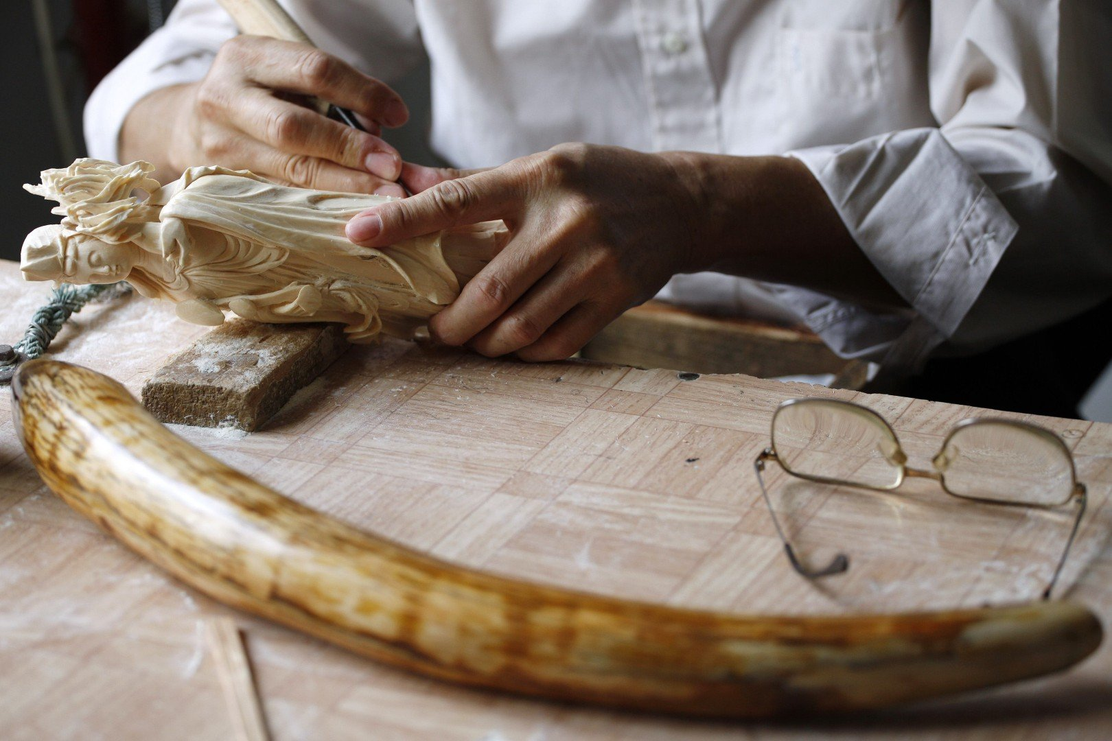 Elephant ivory prices triple in Chinese workshops | South China