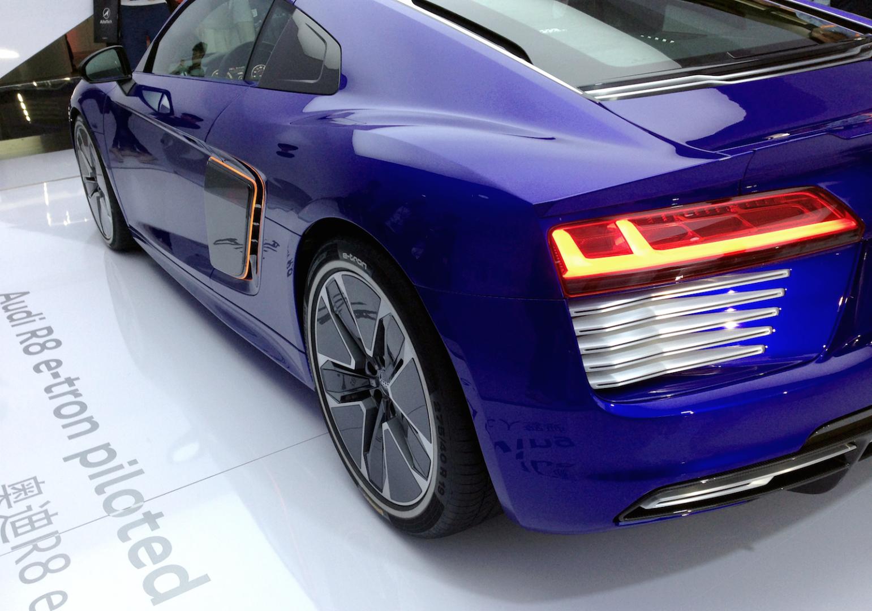b58415ea1de Audi debuts self-driving R8 electric car at CES Asia in Shanghai ...