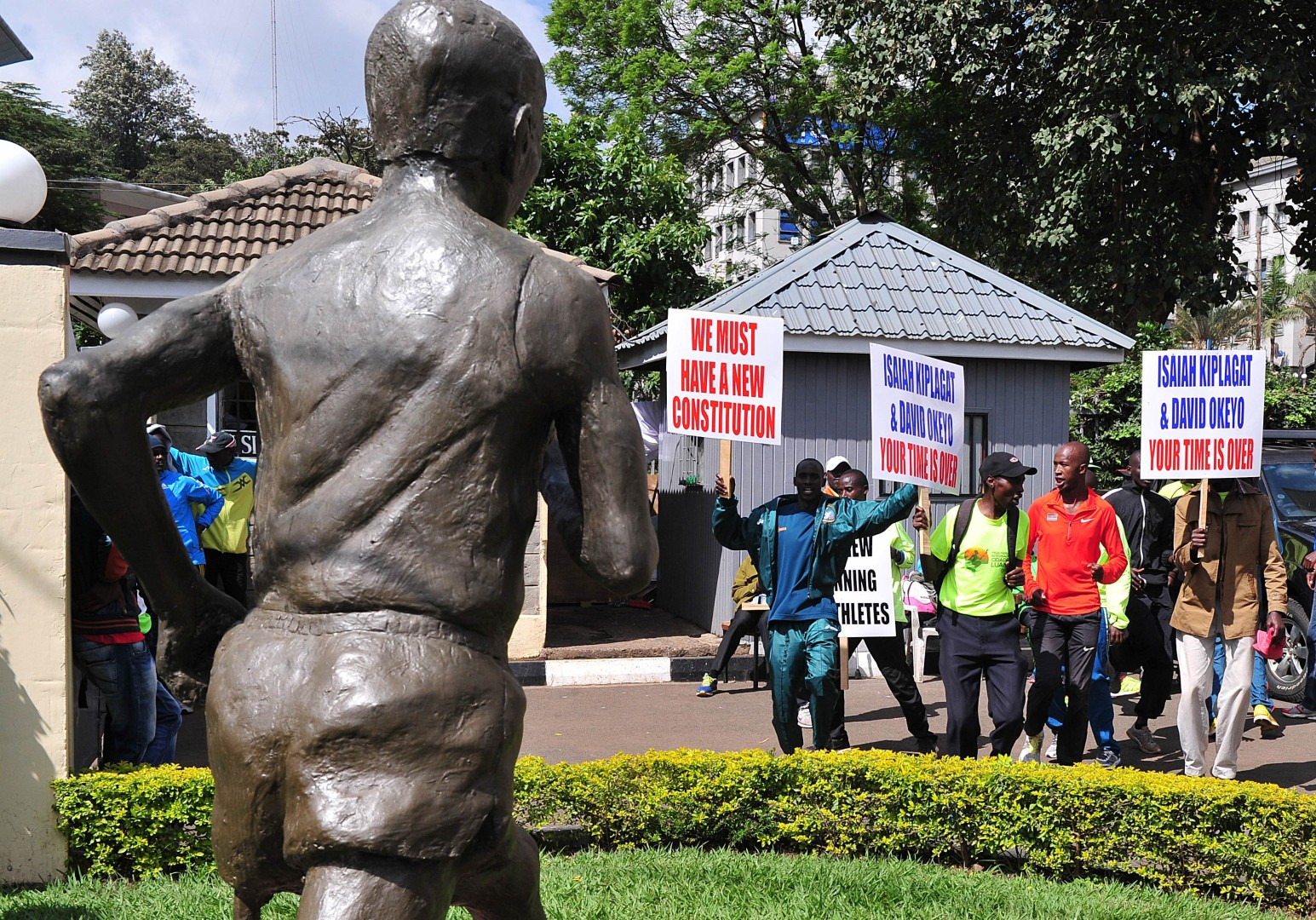 Runners storm Athletics Kenya headquarters in Nairobi over