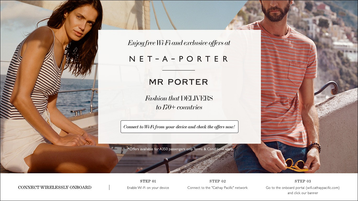 50d1155823d Cathay Pacific teams up with Net-A-Porter and Mr Porter for inflight Wi-Fi  e-commerce debut