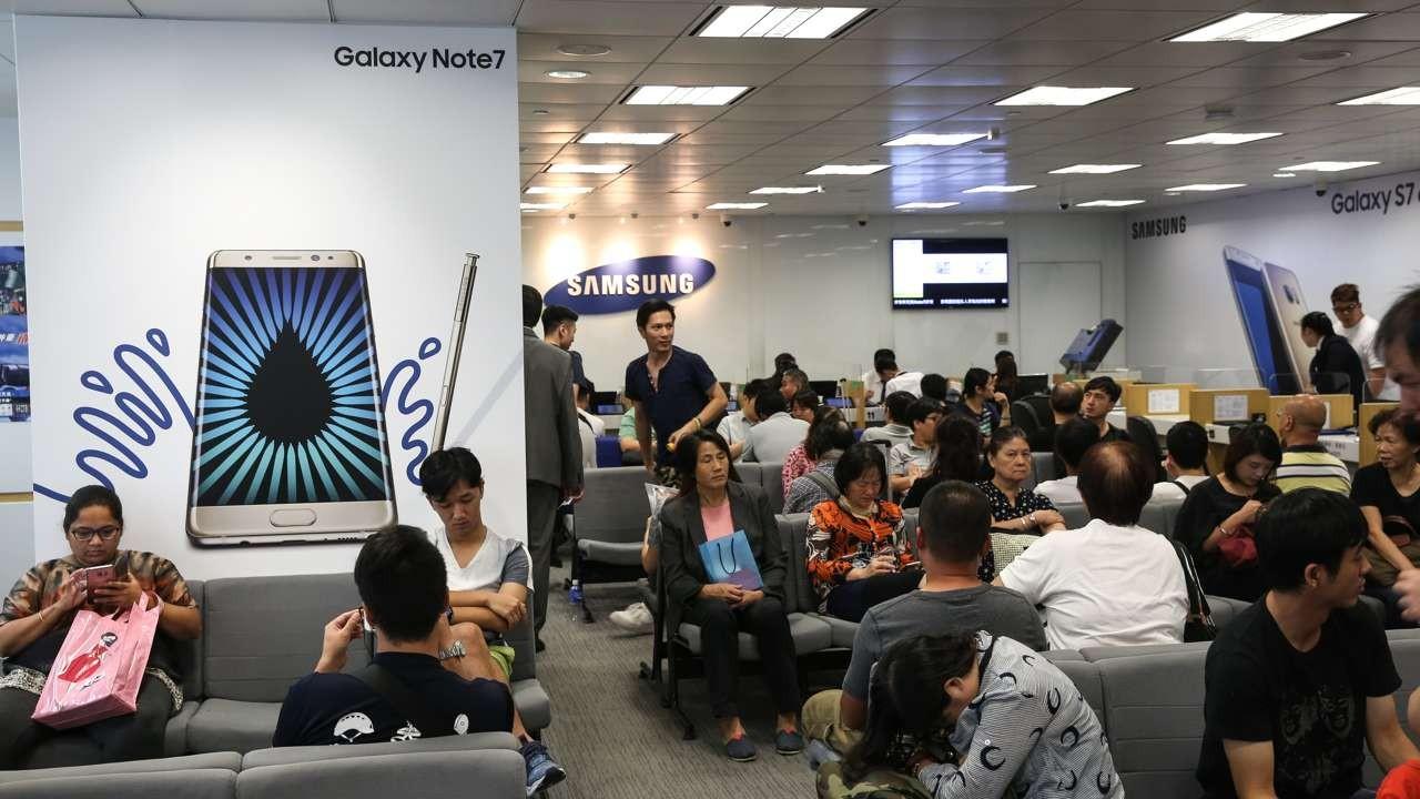 Samsung recalls 191,000 Note 7 smart phones in China, puts Hong Kong